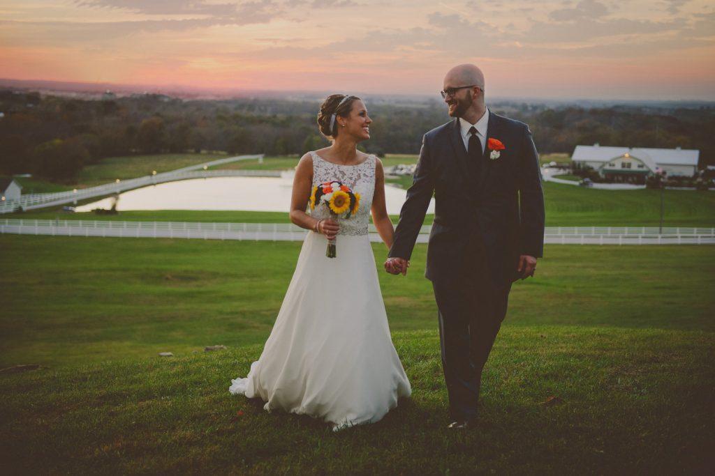 rustic wedding bride and groom
