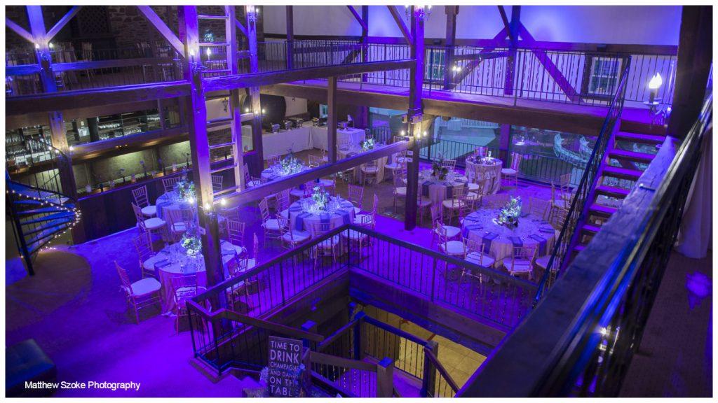 Rustic wedding venue in PA Barn on Bridge