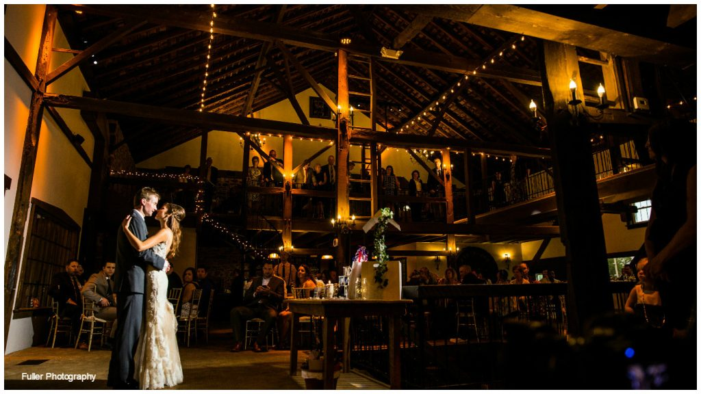rustic wedding bride and groom first dance
