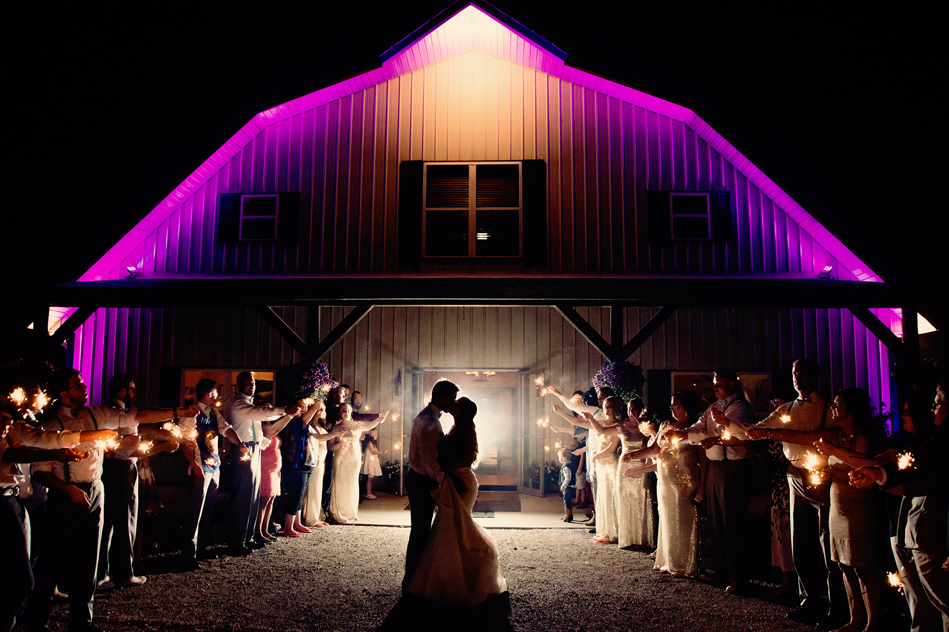 Couples looking for wedding venues in kansas city cant get enough wedding sparklers at country wedding venue berry acres in odessa missouri junglespirit Choice Image
