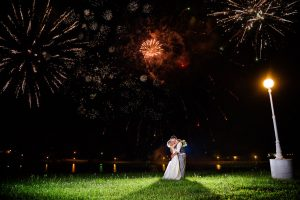Wedding fireworks at country wedding venue Berry Acres in Odessa, Missouri