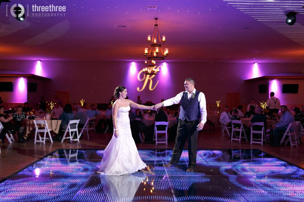 First dance at country wedding venue Berry Acres in Odessa, Missouri