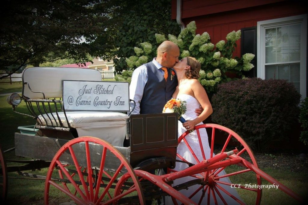 rustic wedding bride and groom
