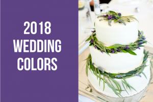 Wedding Colors 2018