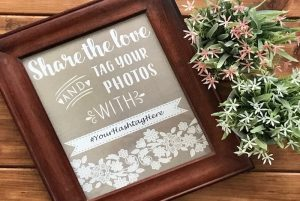 Free Instagram Wedding Sign Printable