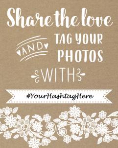 Free Instagram Wedding Sign Printable