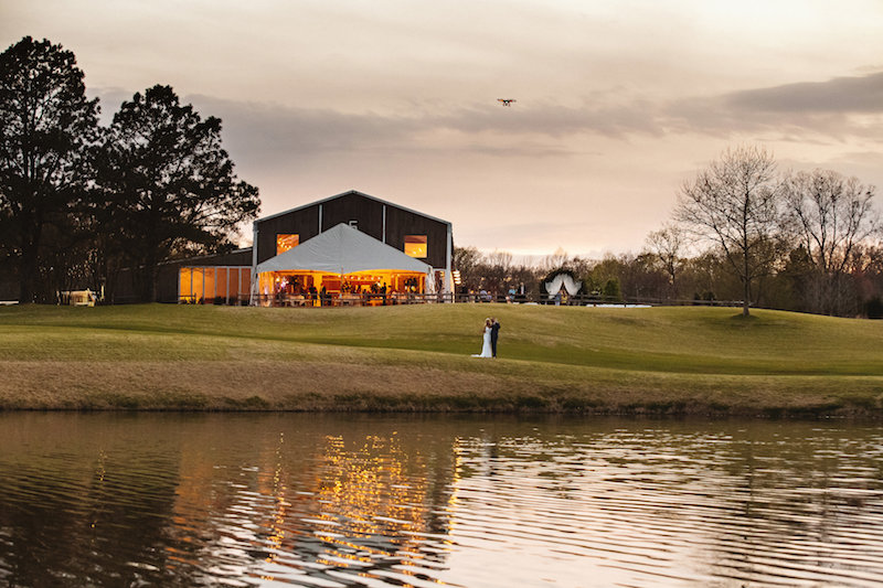 Barn wedding at Spring Creek Ranch in Tennessee