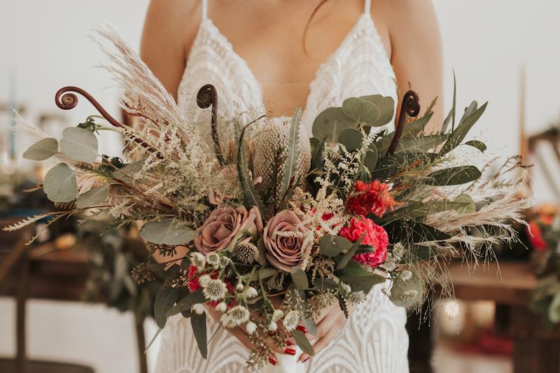 Rustic wedding bouquet. Bride's wedding bouquet